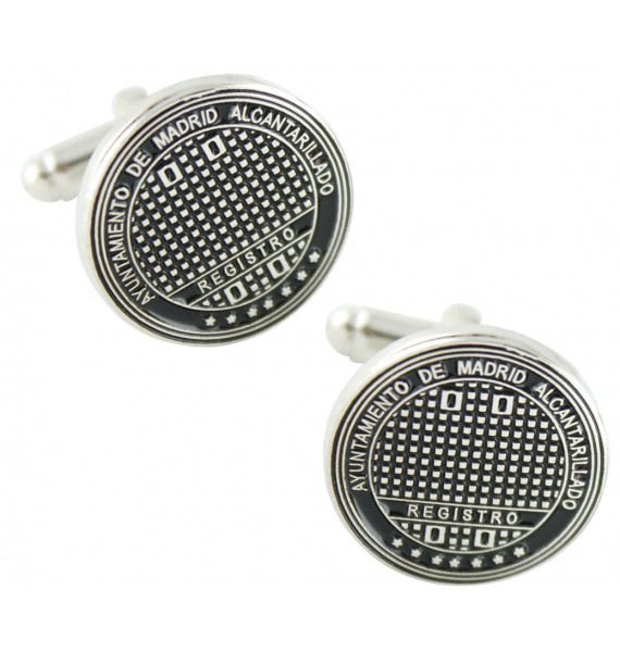 Madrid Sewer Cover Cufflinks
