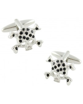 Crystal Skull Cufflinks