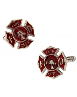 Fireman Shield Cufflinks