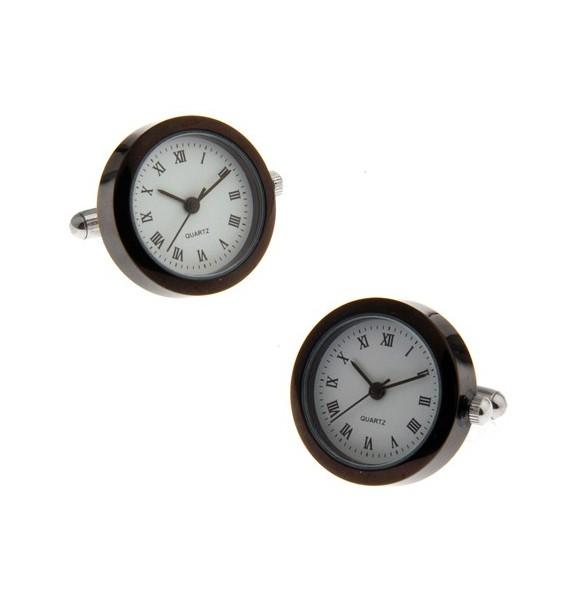 Gemelos Reloj Negro