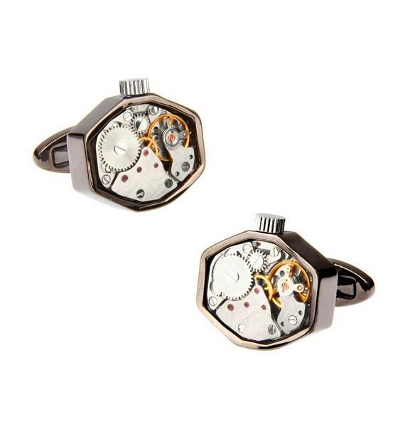 Gemelos Octagon Gunmetal Watch Movement