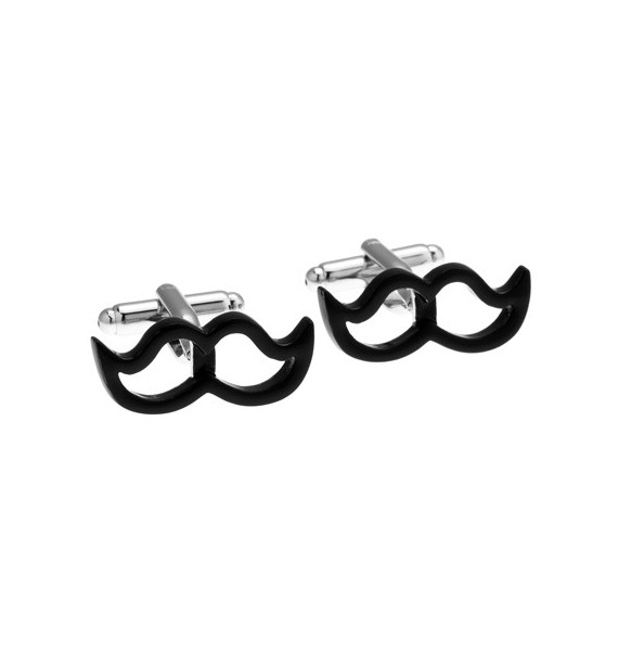 Black Moustache Cufflinks