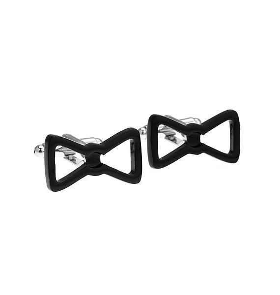 Black Bow Tie Cufflinks