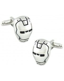 Silver Plated Iron Man Cufflinks