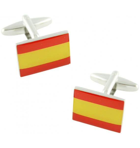 Gemelos Bandera de España Lisa