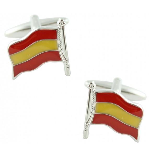 Spain Flagpole Cufflinks