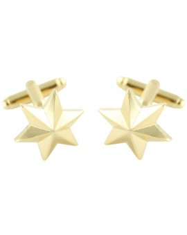 Six-Point Golden Star Cufflinks
