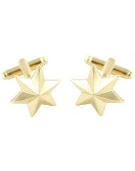 Six-Point Golden Star Cufflinks