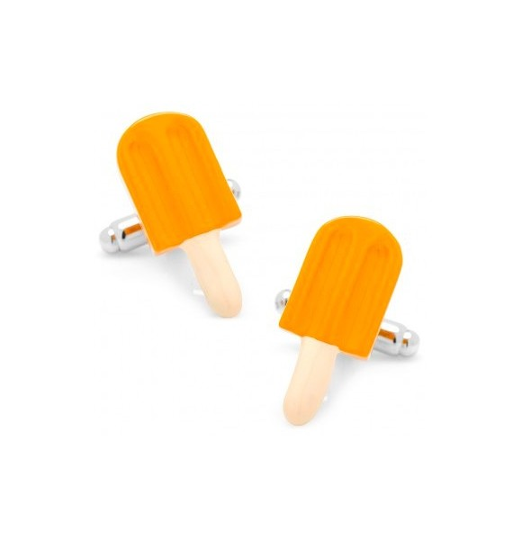 Orange Ice Lolly Cufflinks