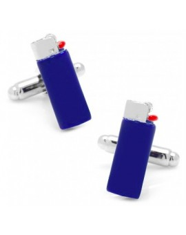 Blue Clipper Lighter Cuffinks