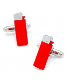 Red Clipper Lighter Cufflinks