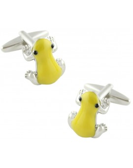 Yellow Frog Cufflinks
