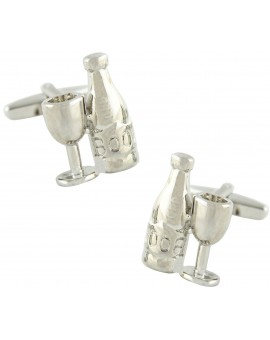Bottle and Glass Cufflinks