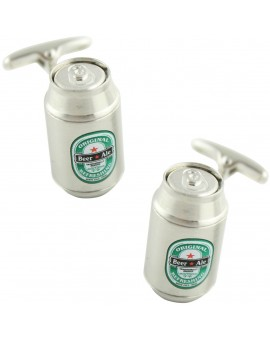 Silver Beer Can Cufflinks