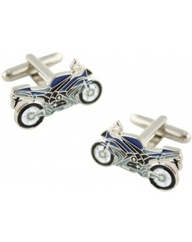 Green Sport Bike Cufflinks