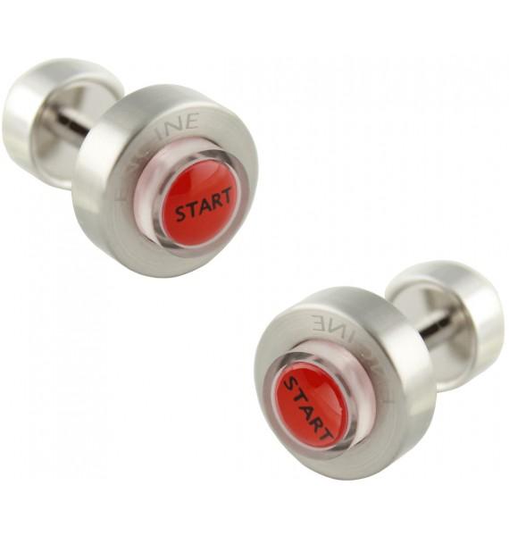 LED Light Starter Button Cufflinks