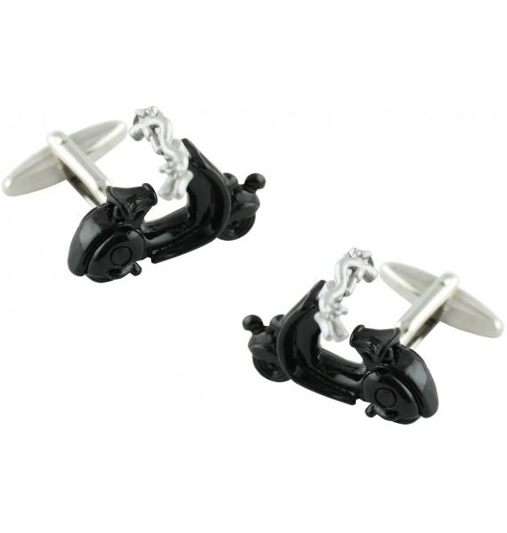 3D Black Vespa Cufflinks