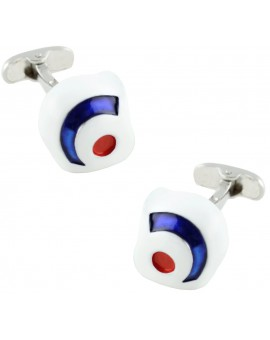 British Helmet Cufflinks
