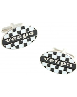 Vespa Checkered Flag Cufflinks