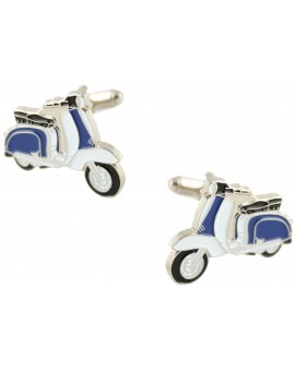 Blue and White Vespa Cufflinks