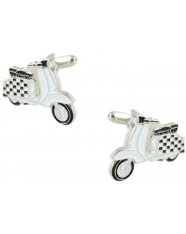 Checkered Flag Vespa Cufflinks
