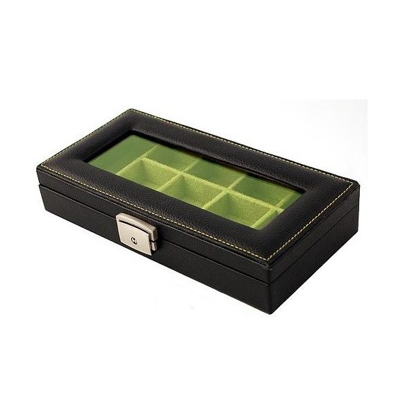 Leather 12-P Cufflink Case