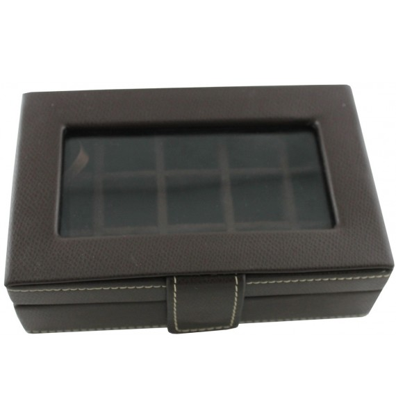 Leather 15-P Cufflink Case