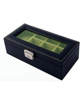 Leather 19-P Cufflink Case