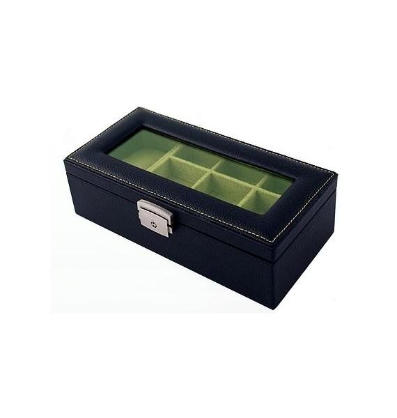 Leather 19-P Cufflink Case