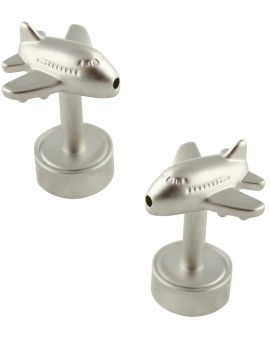 LED Light Jumbo Aircraft Cufflinks