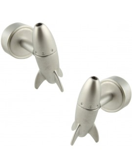 LED Light Rocket Cufflinks