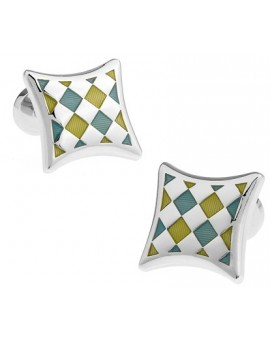 Multicolored Checker Cufflinks
