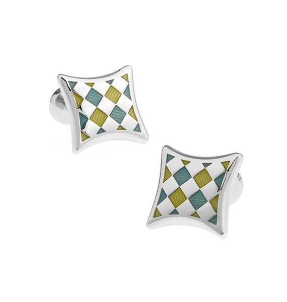 Multicolored Checker Cufflinks