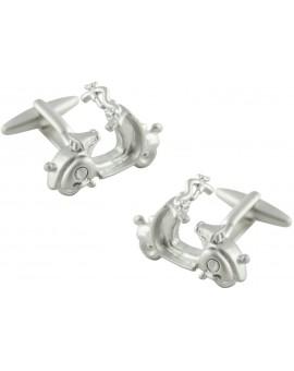 3D Silver Plated Vespa Cufflinks