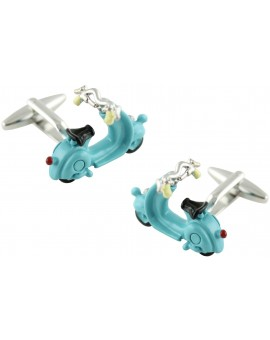 3D Light Blue Vespa Cufflinks