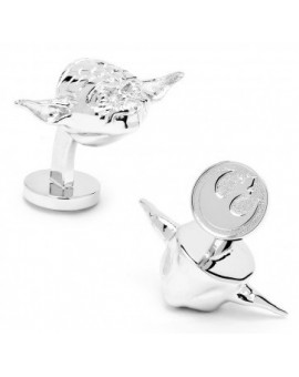 Palladium 3D Yoda Head Star Wars Cufflinks