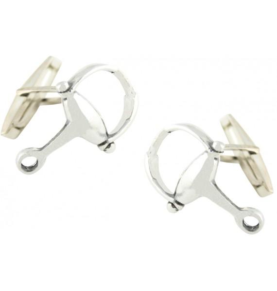Sterling Silver Horse Bit Cufflinks