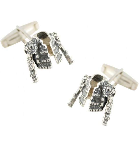 Sterling Silver Bullfighter Jacket Cufflinks