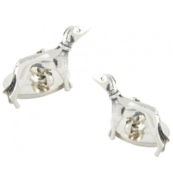Sterling Silver Greyhound Cufflinks