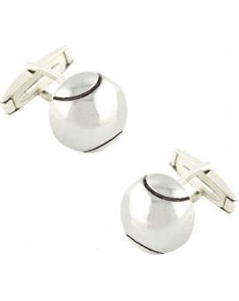 Sterling Silver Tennis Ball Cufflinks