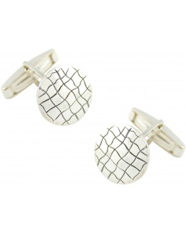 Sterling Silver Crocodile Skin Cufflinks