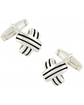 Sterling Silver Crossed Cufflinks