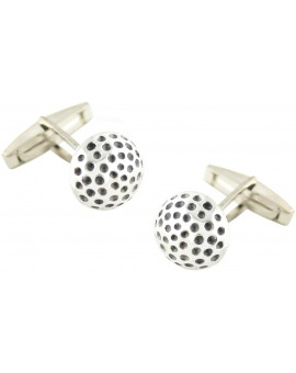 Sterling Silver Half Golf Ball Cufflinks