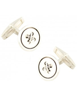 Sterling Silver Classic Button Cufflinks