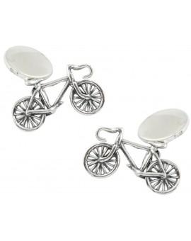 Gemelos Bicicleta Plata 925