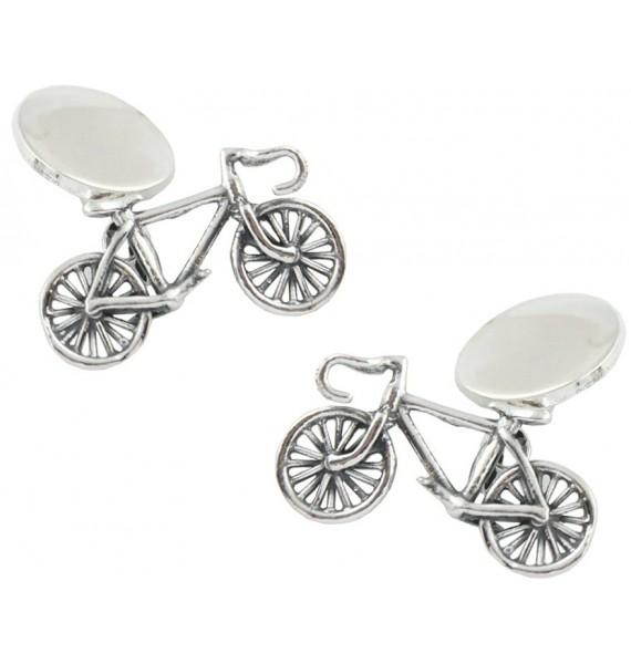 Sterling Silver Bike Cufflinks