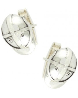 Sterling Silver Jockey Helmet Cufflinks