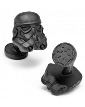 Matte Black 3D Storm Trooper Helmet Star Wars Cufflinks