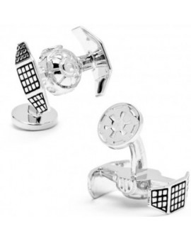 Palladium Darth Vader Tie Starfighter Star Wars Cufflinks
