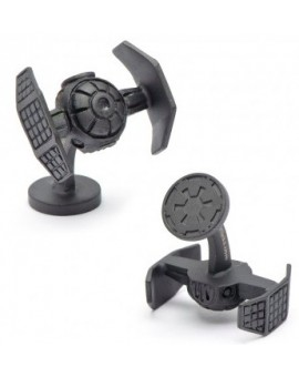 Matte Black Darth Vader Tie Starfighter Star Wars Cufflinks